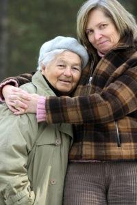 hugging mother